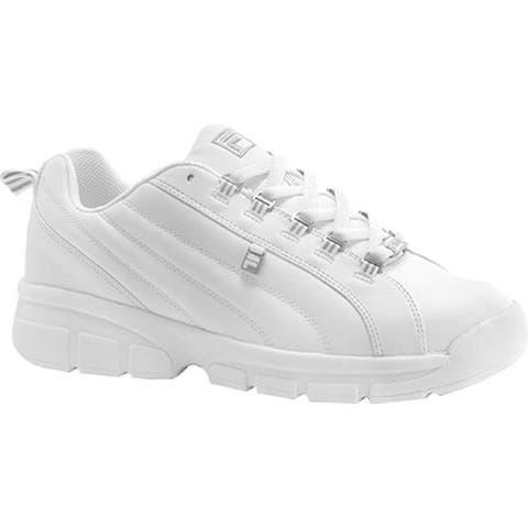 8601b3ea5e2 Fila Men s Exchange 2K10 White White Metallic Silver