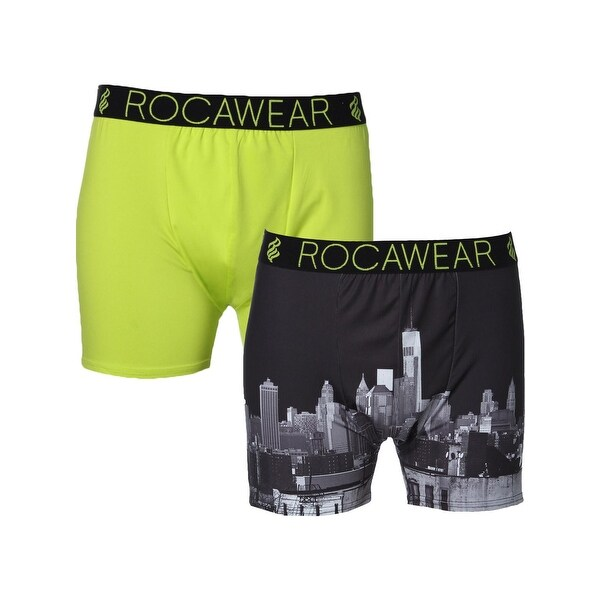 c028a03606 Shop Rocawear Mens Boxer Briefs 2 Pack Moisture Wicking - Free Shipping On  Orders Over $45 - Overstock - 15088312