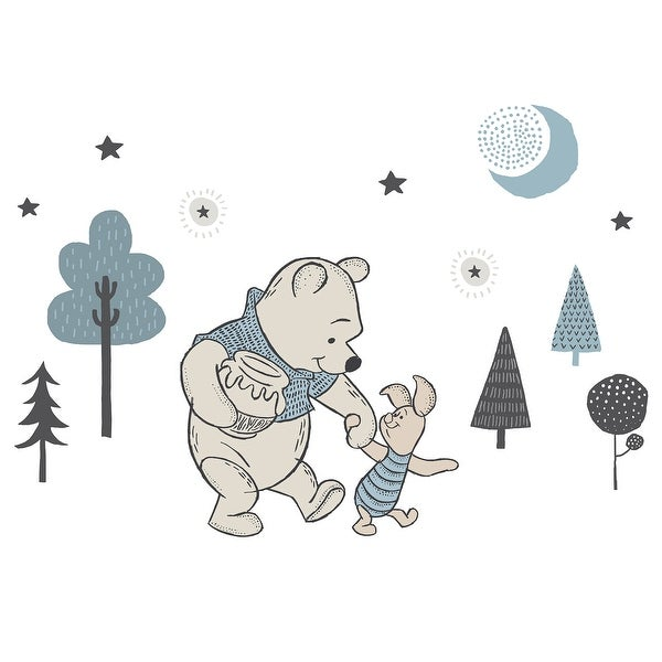 Disney Baby Forever Pooh Blue/Beige Bear Wall Decals by Lambs & Ivy. Opens flyout.