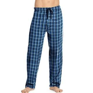 Hanes Men's Woven Pants - Size - 5XL - Color - Blue Tartan