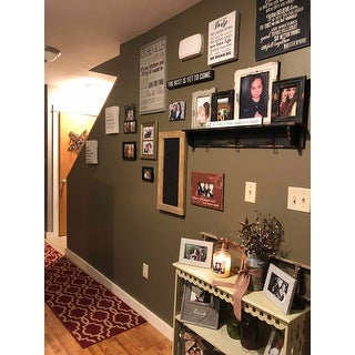 Four Collage Picture Frames with Wood Shelf