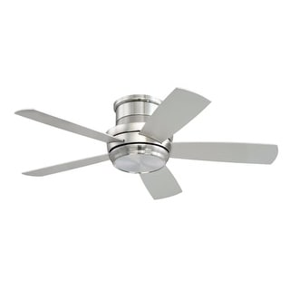 "Craftmade TMPH445 Tempo Hugger 44"" 5 Blade AC Motor Indoor Ceiling Fans with Light Kit Included"