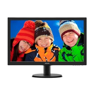 "Philips V-line 243V5LSB 23.6"" LED LCD Monitor - 16:9 - 5 ms - 1920 x 1080 - 16.7 Million Colors - 250 Nit - 10,000,0"