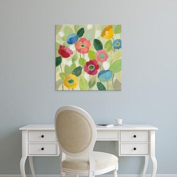 Easy Art Prints Silvia Vassileva's 'Fairy Tale Flowers IV' Premium Canvas Art