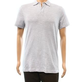 Calvin Klein NEW Gray White Stripe Mens Size Medium M Polo Shirt