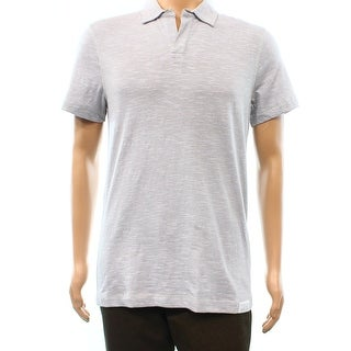 Calvin Klein NEW Gray White Stripe Mens Size Small S Polo Shirt