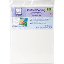 "8.5""X11"" 50/Pkg - June Tailor Perfect Piecing Quilt Block Foundation Sheets"