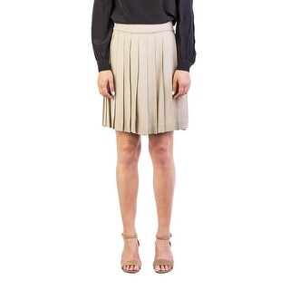 Miu Miu Women's Viscose Pleaded Skirt Brown - 40