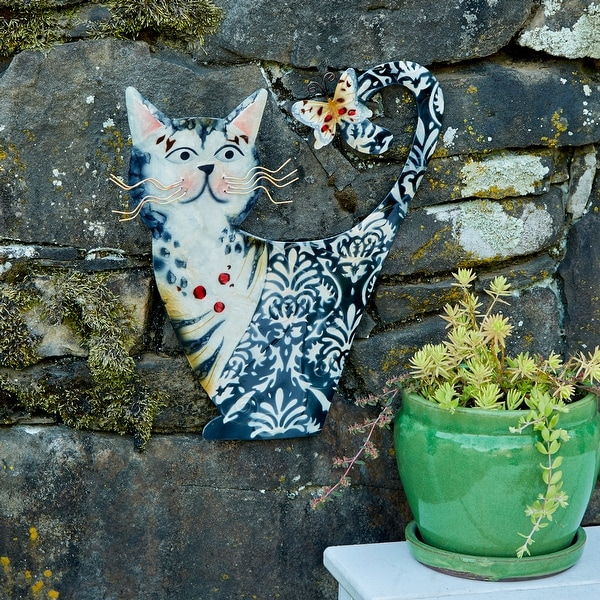 Cat White and Black Garden Decoration - 11 x 1 x 14. Opens flyout.