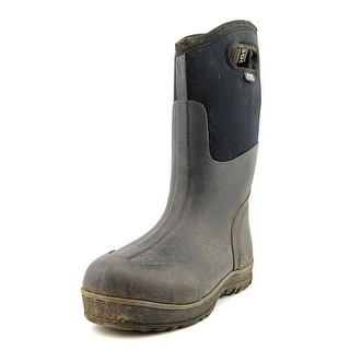 Bogs Ultra High Men Round Toe Canvas Black Rain Boot