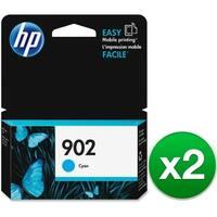HP 902 Cyan Original Ink Cartridge (T6L86AN)(2-Pack)
