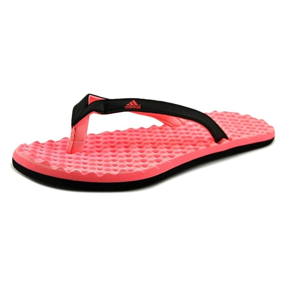 Adidas Eezay Dots Women Open Toe Leather Pink Slides Sandal