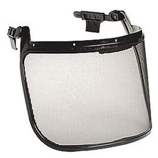 North Safety Black Metal Mesh Self-Adapting Forestry Faceshield