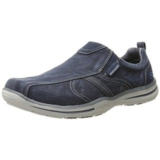 Skechers Mens Loafers Canvas Memory Foam - 8 medium (d)