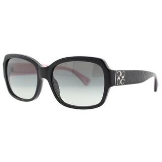 COACH Square HC 8001 (L001 Emma) Women's 5053/11 Black Gray Gradient Sunglasses - 57mm-17mm-135mm