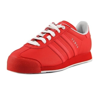 Adidas Samoa J Youth Round Toe Synthetic Red Sneakers