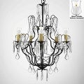 Crystal Chandelier Lighting With Candle Votives H27 x W21 For Indoor/Outdoor Use - Thumbnail 0