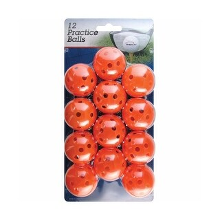 Intech Golf Practice Balls with Holes, 12 Pack (Orange)