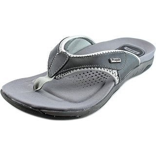 Propet Hartley Women Open Toe Canvas Gray Thong Sandal