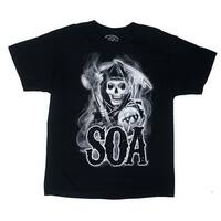 Sons of Anarchy Reaper Smoke Men's Black T-Shirt