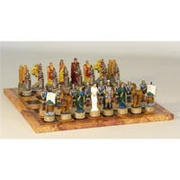 Worldwise Imports  Troy Vs Sparta On Map Board Themed Chess Set