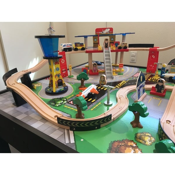 Shop KidKraft Airport Express Train Set and Table - Free Shipping ...