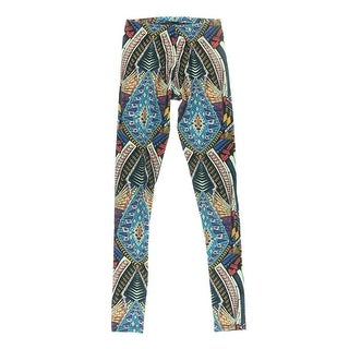 Material Girl Womens Knit Printed Leggings