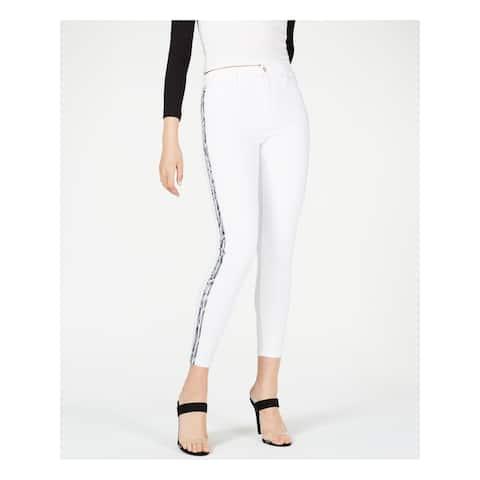 JOE'S Womens White Snake-embossed Stripe Skinny Jeans Size 28 Waist