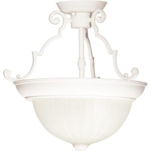 "Nuvo Lighting 76/435 2 Light 13"" Wide Semi-Flush Bowl Ceiling Fixture"