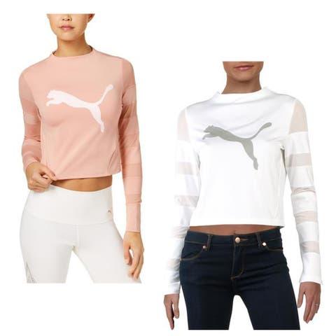 Puma Womens T-Shirt Cropped Fitness