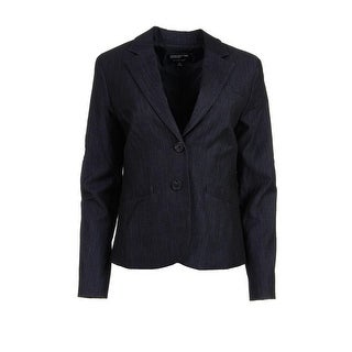 Jones New York Womens Heathered Fitted Two-Button Blazer