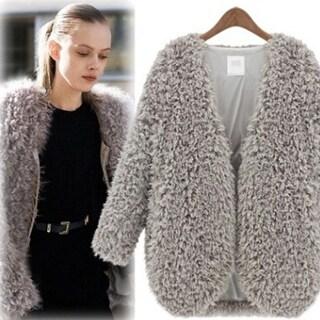 Womens Fur Warm Coat Jacket