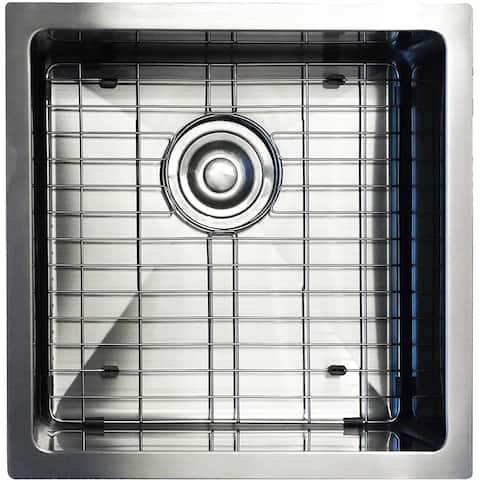 UM1717 17 Inch Under-mount Stainless Steel Single Bowl Kitchen Sink