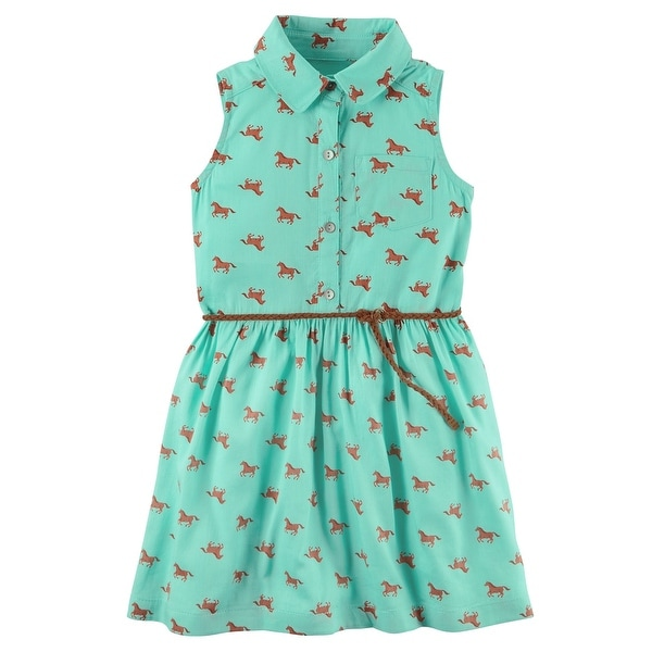 f5979c403 Shop Carter's Little Girls' Horse Print Shirt Dress, 3-Toddler - Free  Shipping On Orders Over $45 - Overstock - 19961849