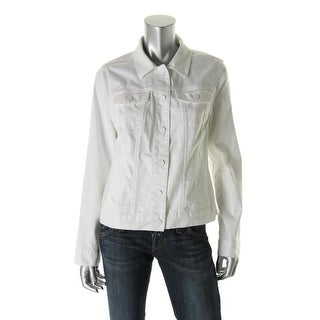 Tommy Hilfiger Womens Long Sleeves Button Front Denim Jacket - XS