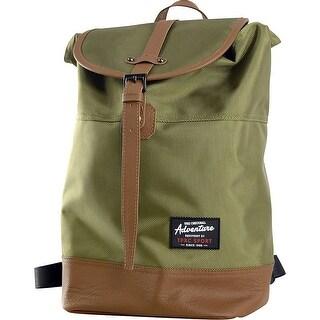 Travelers Club TPRC Sport 14 Backpack, Green/Brown