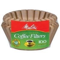 Melitta 629092 Natural Brown Basket Coffee Filters - 100 Package