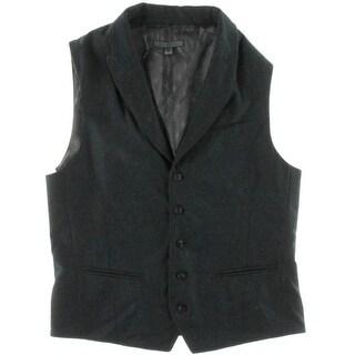 John Varvatos Mens Wool Peak Lapel Vest - 50