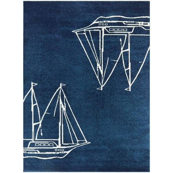 Porch Den Morningstar Sailboat Ship Coastal Nautical Area Rug On Sale Overstock 30036613