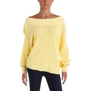 Free People Womens Alana Sweater Linen Heathered