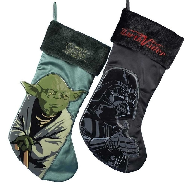 Star Wars Yoda & Darth Vader Applique Stockings - 2 Pack