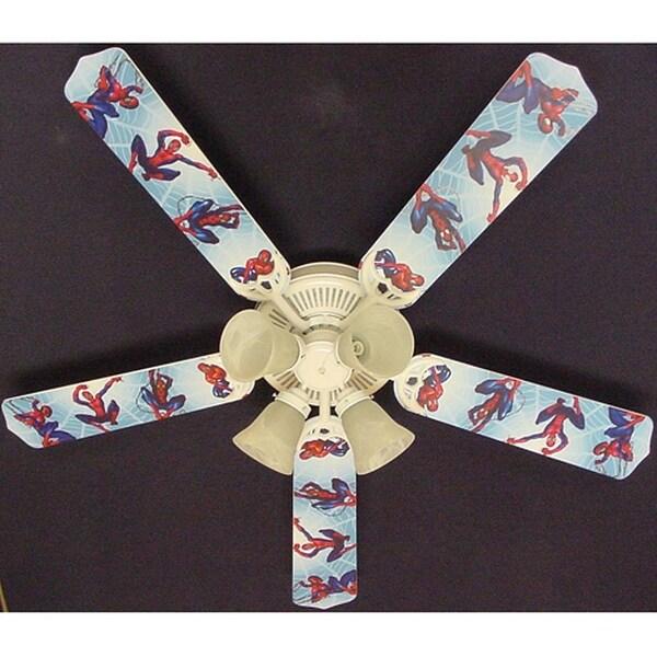 Children's 52in Ceiling Fan Light Spiderman Blade Kit - Multi