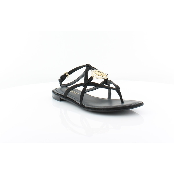 ea8fc51cbd1d Shop Guess Romie Women s Sandals   Flip Flops Black - Free Shipping ...