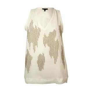 Sanctuary Women's Sequin Chiffon V-Neck Blouse - Ivory