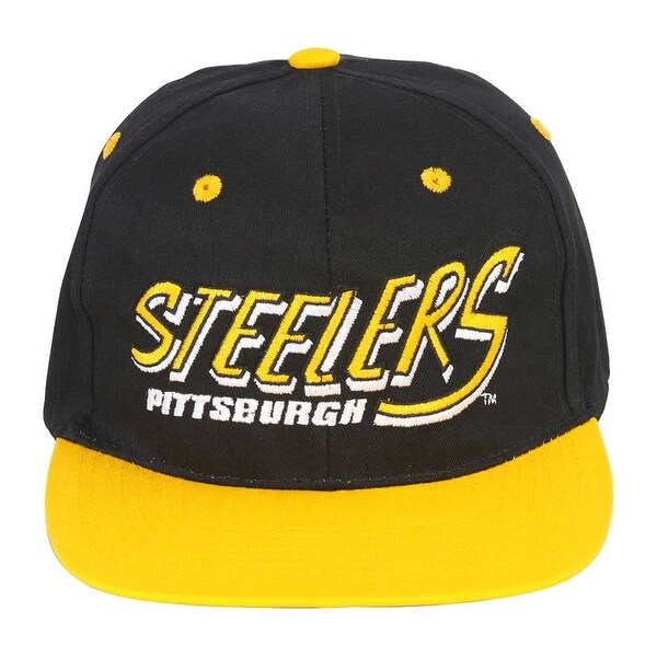 47f022707ab Shop NFL Pittsburgh Steelers Flatbill 2 Tone Snapback Hat - Free ...