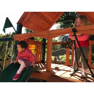 Gorilla Playsets Mountaineer w/ Timber Shield and Standard Wood Roof