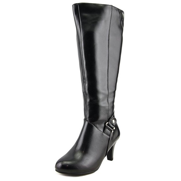 Karen Scott Harloww Wide Calf Women W Round Toe Synthetic Black Knee High Boot