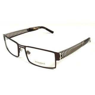 Boucheron Unisex Rectangular Eyeglasses Black/Gold - S