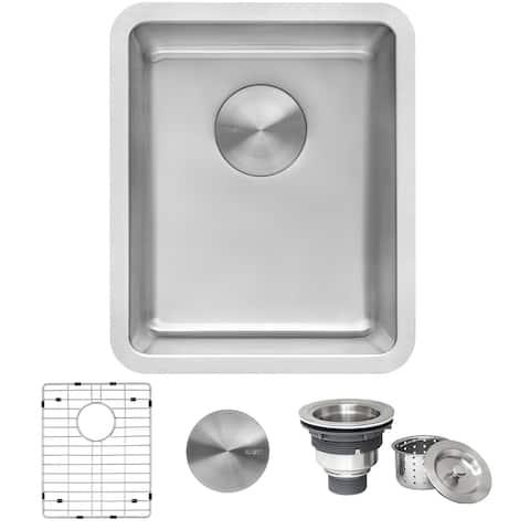 """Ruvati 15-inch Undermount Bar Prep Kitchen Sink 16 Gauge Stainless Steel Single Bowl - RVM5815 - 15"""" X 18"""""""