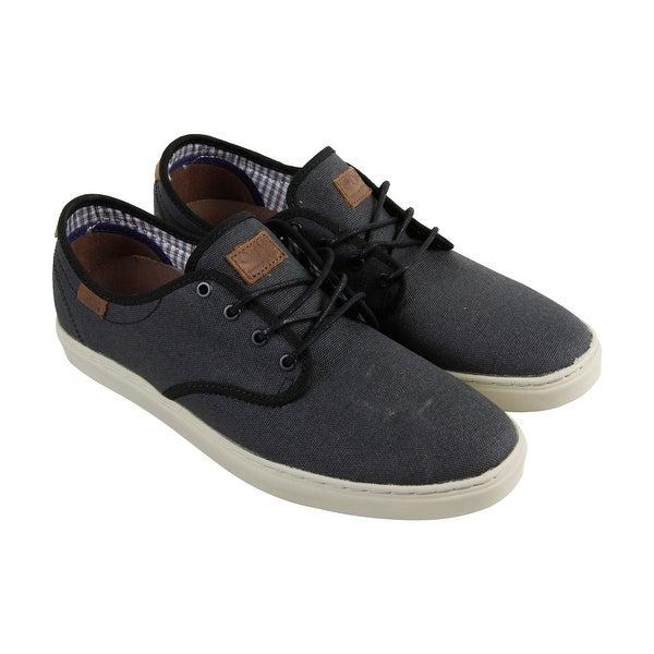 3f25ac2ca528 Shop Vans Ludlow Mens Black Textile Lace Up Lace Up Sneakers Shoes ...
